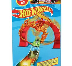 Pista Hot Wheels Acrobática A Través De Las Llamas