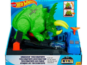Pista Hot Wheels Dinosaurio Ataque De Triceratops